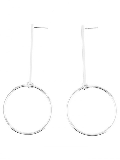 outfit Circle Bar Earrings - SILVER  Mobile