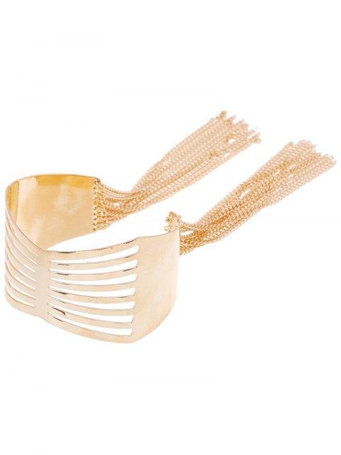 hot Cut Out Geometric Fringe Cuff Bracelet -   Mobile