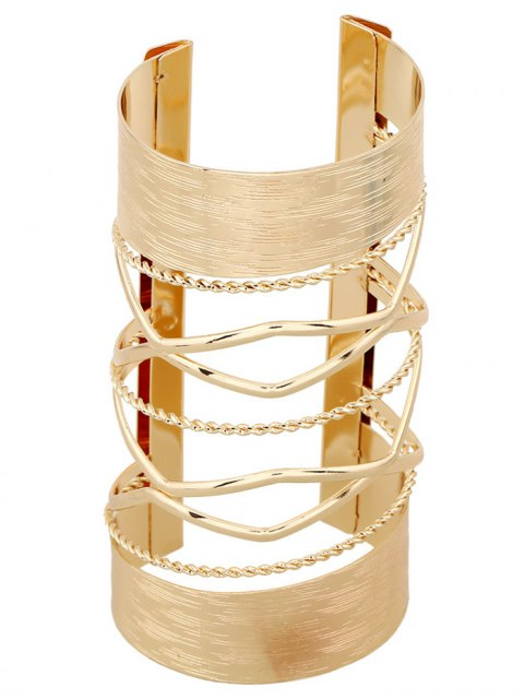 shops Cut Out Twisted Crisscross Cuff Bracelet - GOLDEN  Mobile