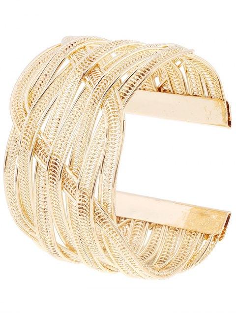 chic Cut Out Chain Cuff Bracelet - PLATINUM  Mobile