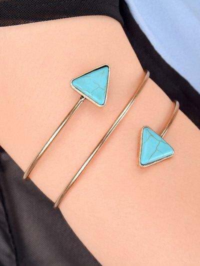 Artificial Turquoise Body Chain - GOLDEN  Mobile