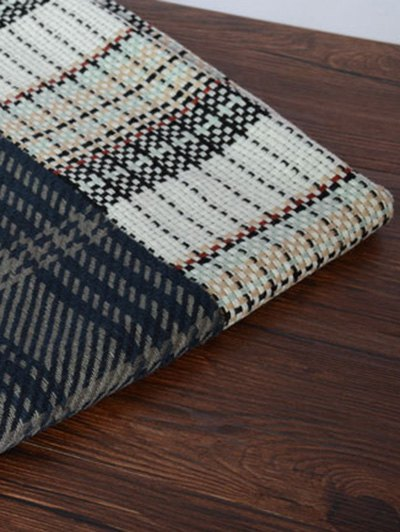 Houndstooth Woven Shawl Scarf - BLUE  Mobile
