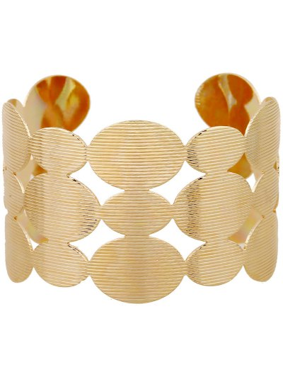 Tiered Cut Out Round Bracelet - GOLDEN  Mobile