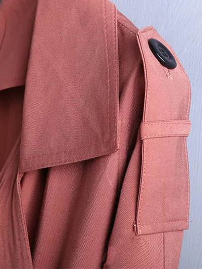 Trench Coat - BRICK-RED M Mobile