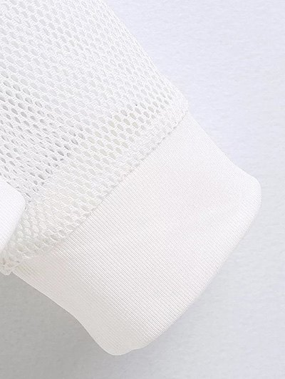 Embroidered Round Neck Long Sleeve Sweatshirt - BLACK M Mobile