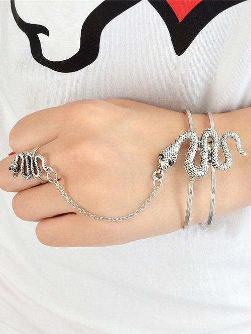 Vintage Snake Bracelet With Ring