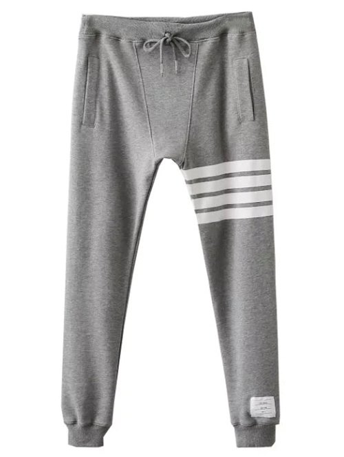 Drawstring Striped Active Pants