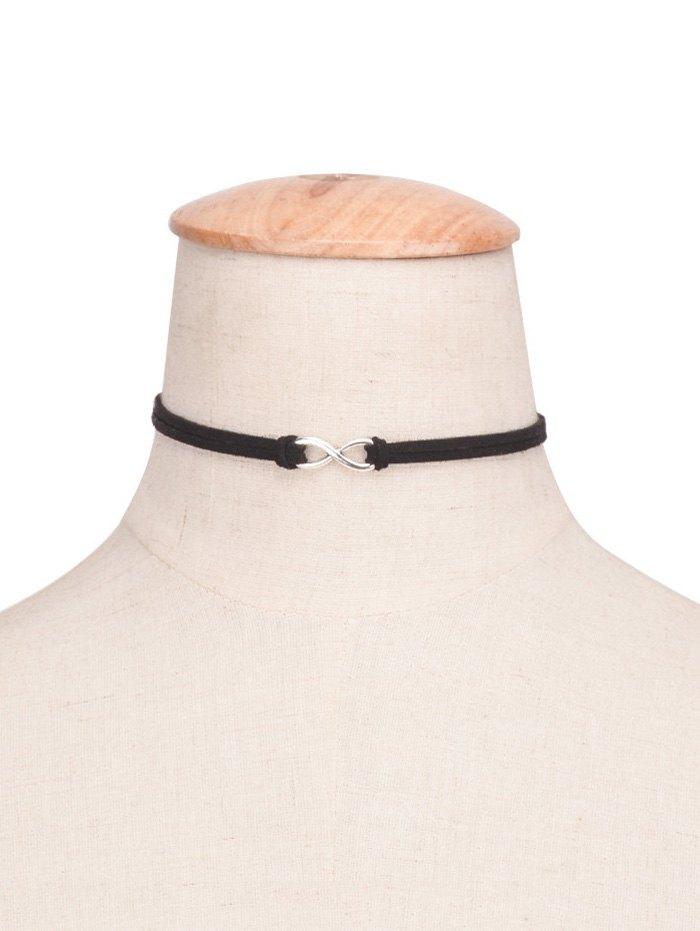 8 Shape Velvet Choker Necklace