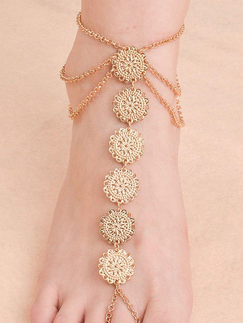Vintage Blossom Sequins Anklet