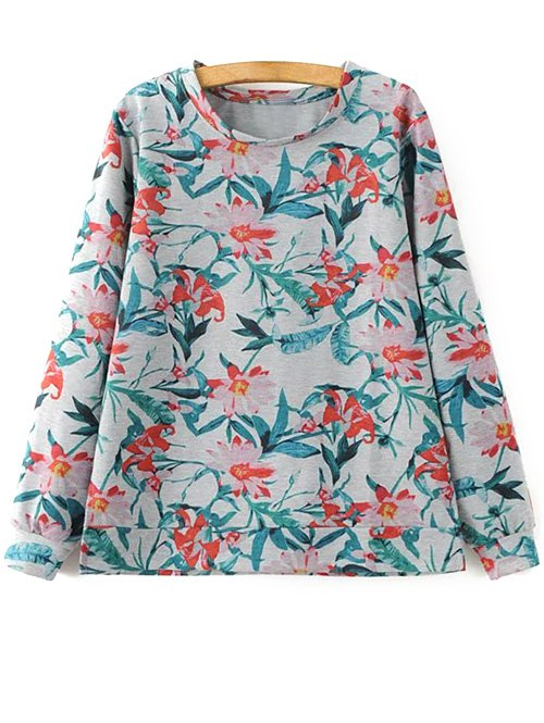 Bluză de damă, din bumbac, cu imprimeu floral