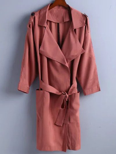 Lapel Belted Trench Coat