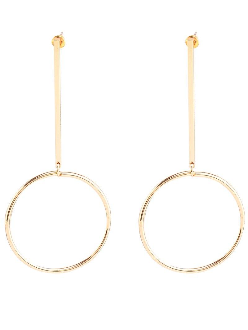 Vintage Circle Bar Earrings