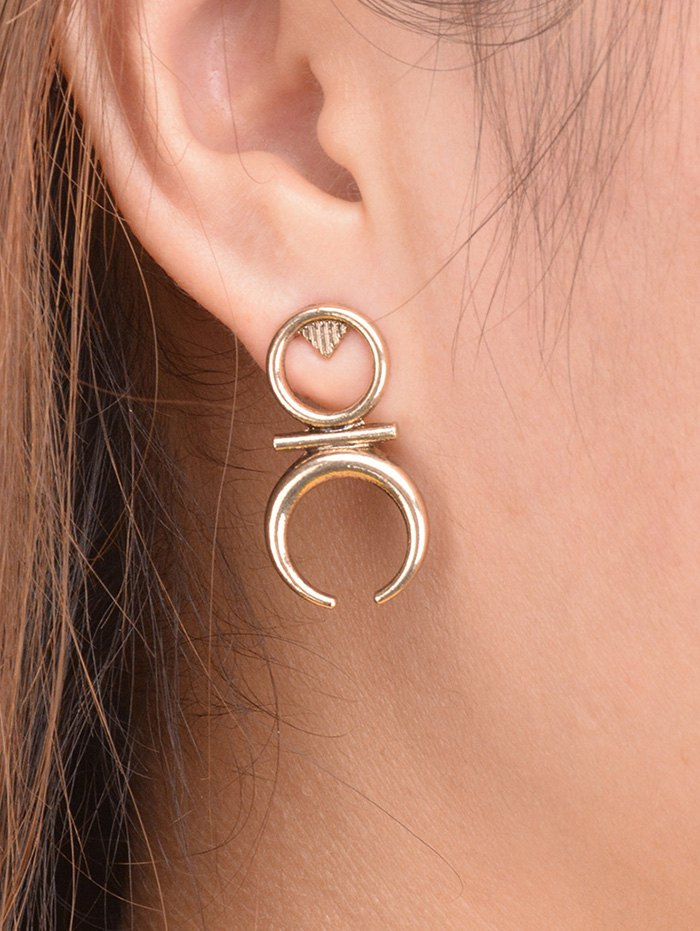 Round Moon Drop Earrings
