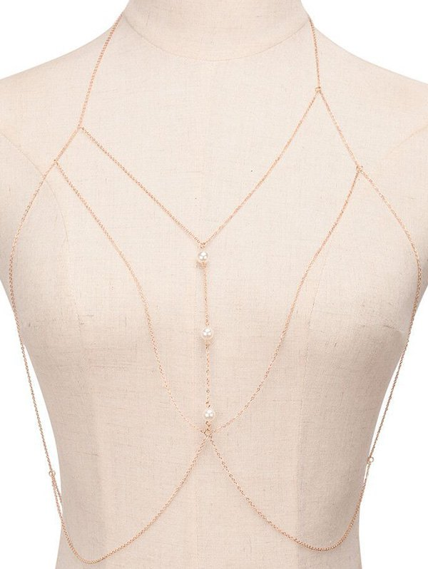 Chic Faux Pearl Sandbeach Body Chain