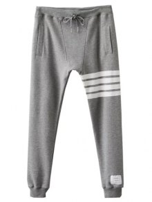 Striped Drawstring Active Pants