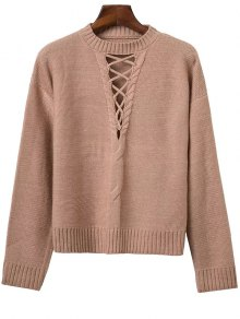 Cable Knit Lacing Sweater