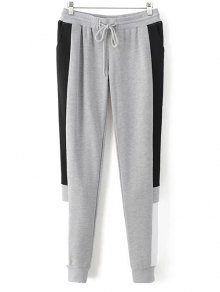 Pantalon De Jogging Color Block - Gris