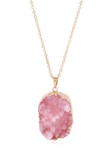 Geode Druzy Necklace - Light Pink