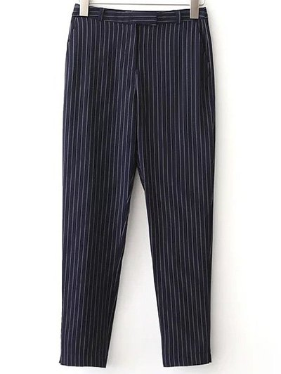 OL Style Striped Pockets Pants