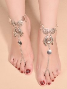 Water Drop Sequins Toe Ring Anklet