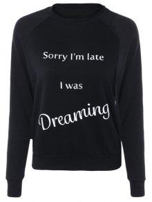 Letter Printed Raglan Sleeve Sweatshirt