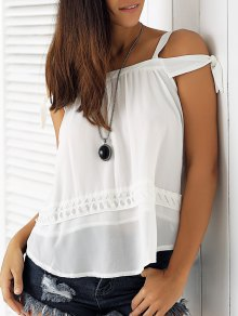 White Hollow Cami Off The Shoulder Blouse