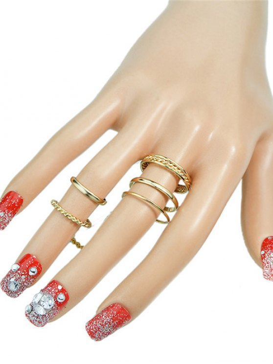 Hollow Out Ring - GOLDEN ONE-SIZE Mobile