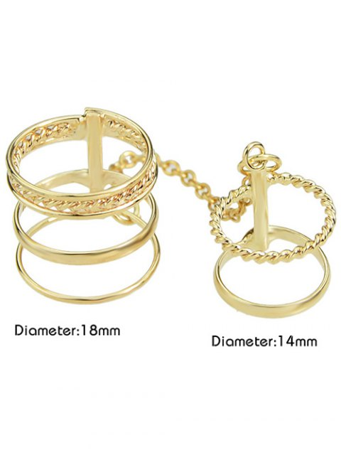 best Hollow Out Ring - GOLDEN ONE-SIZE Mobile