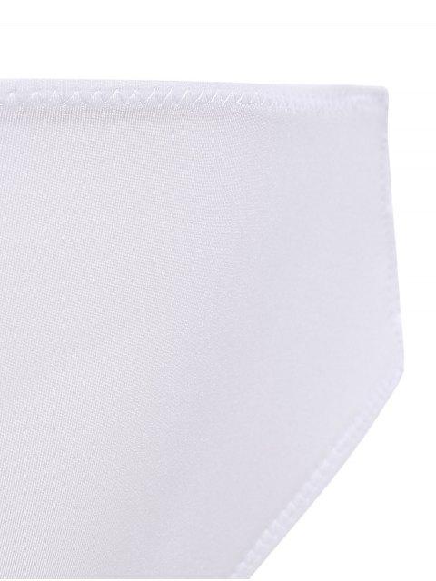 fashion Front Closure Solid Color Push Up Bra Set - WHITE 80B Mobile