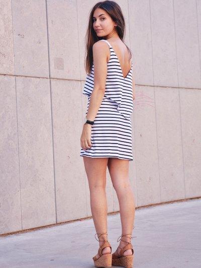 Stripe Cami Dress - WHITE XL Mobile