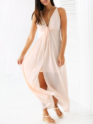 Light Pink Cami Chiffon Maxi Dress - Light Pink