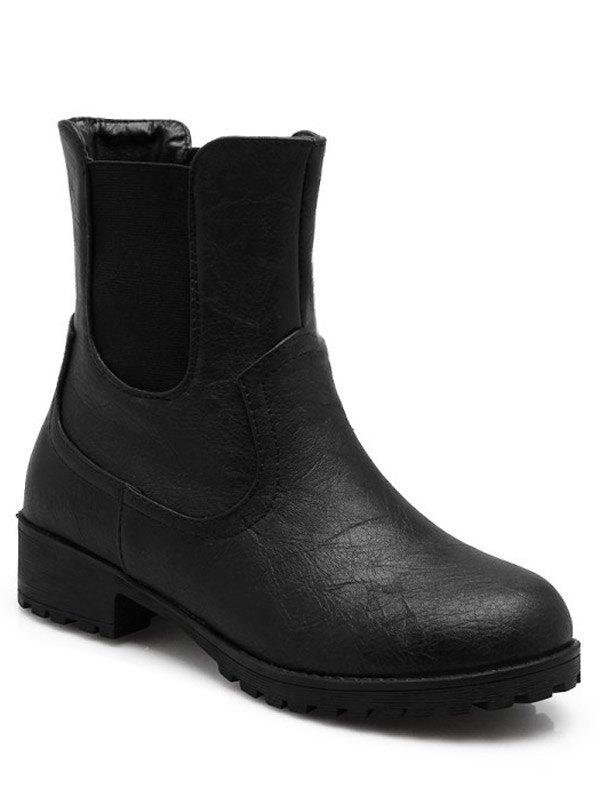 Solid Color Design Short Boots For Women