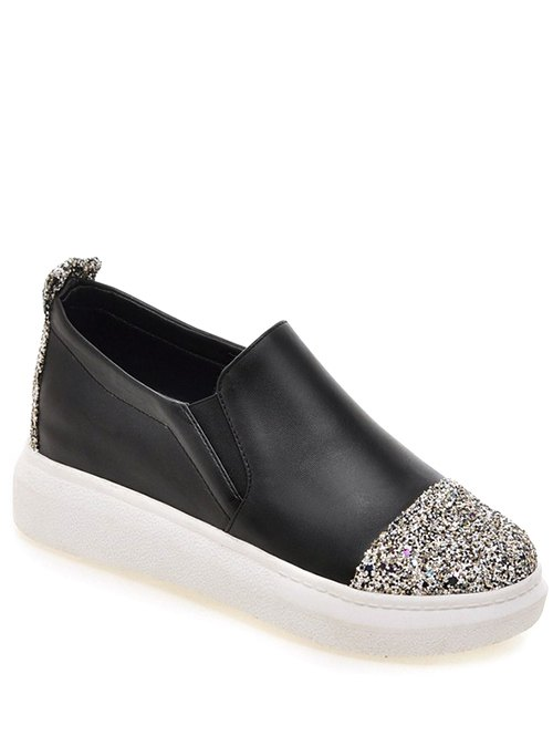 Sequins Design Platform Shoes For Women
