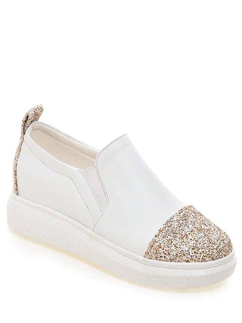 Sequins Slip-On Platform Shoes