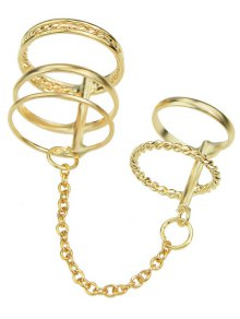 Hollow Out Ring - Golden One-size
