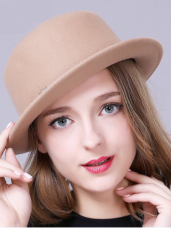 buy Braid Decorated Bowler Hat - CAMEL