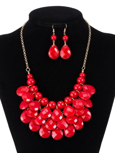 Beads Water Drop Necklace and Earrings от Zaful.com INT