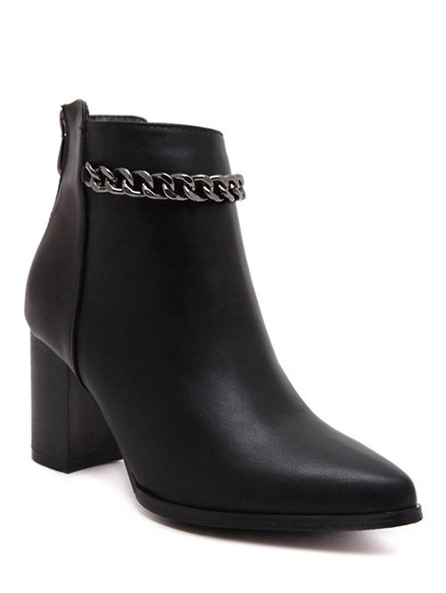 Chain Design Short Boots For Women