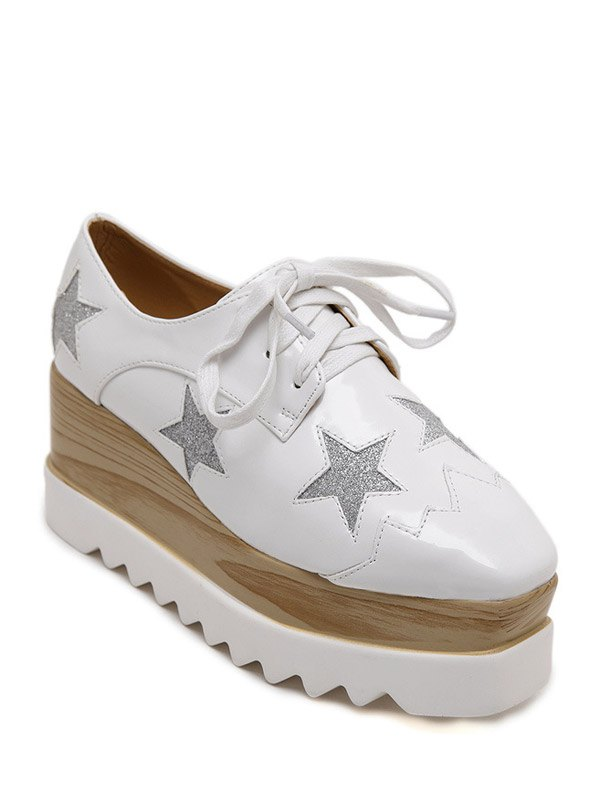 Star Pattern Design Wedge Shoes For Women