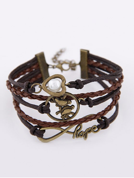 Infinity Birdie Braided Bracelet - COLORMIX  Mobile