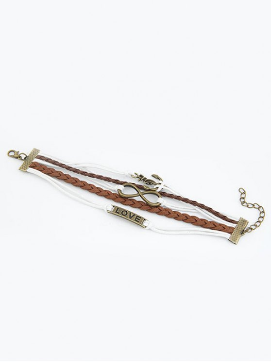 Anchor Infinity Strand Bracelet -   Mobile