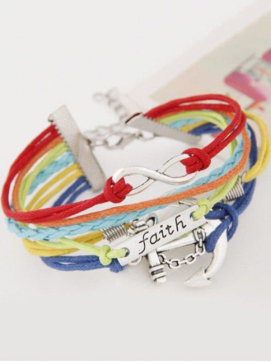 Braid Layered Anchor ID Strand Bracelet -   Mobile