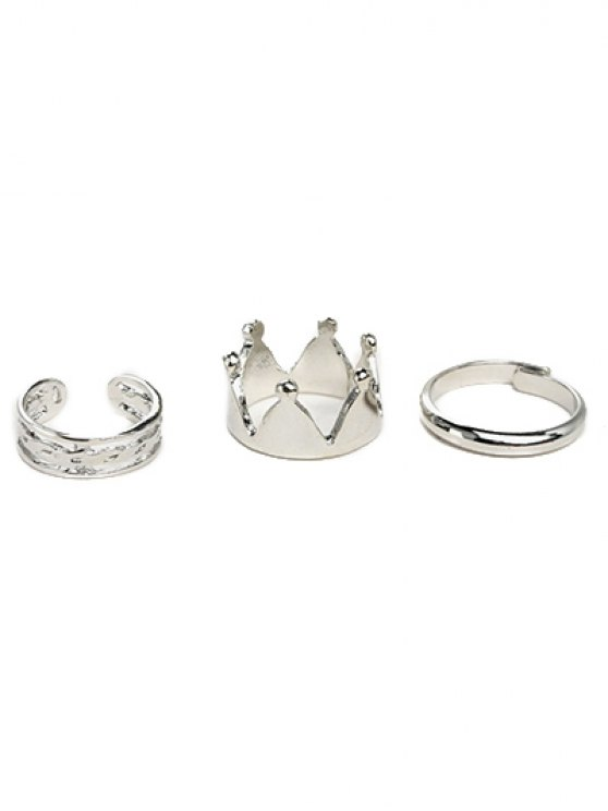 Crown Ring Set - Argent