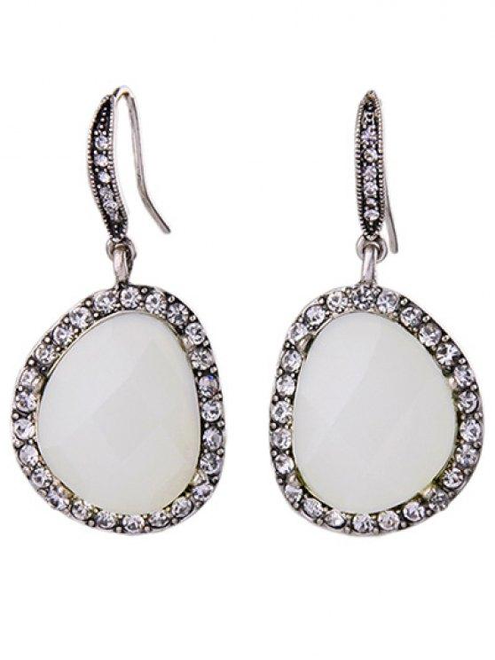 Joyería de los pendientes del Rhinestone de la gema de imitación - Plata