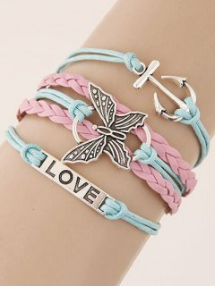 Anchor Butterfly Braided Bracelet
