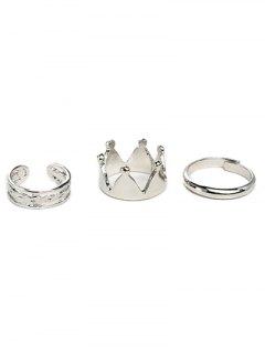 Crown Ring Set - Silver