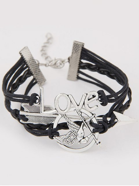 outfits Arrow Irenidae Braided Bracelet - BLACK  Mobile