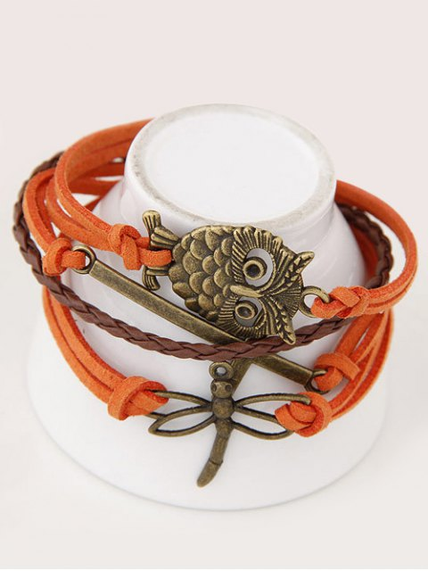 shop Owl Cross Dragonfly Braided Bracelet - JACINTH  Mobile