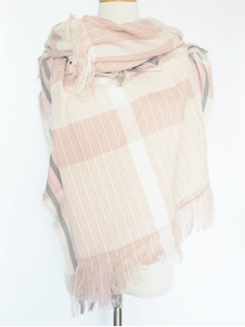 outfits Stripe Fringed Pashmina -   Mobile