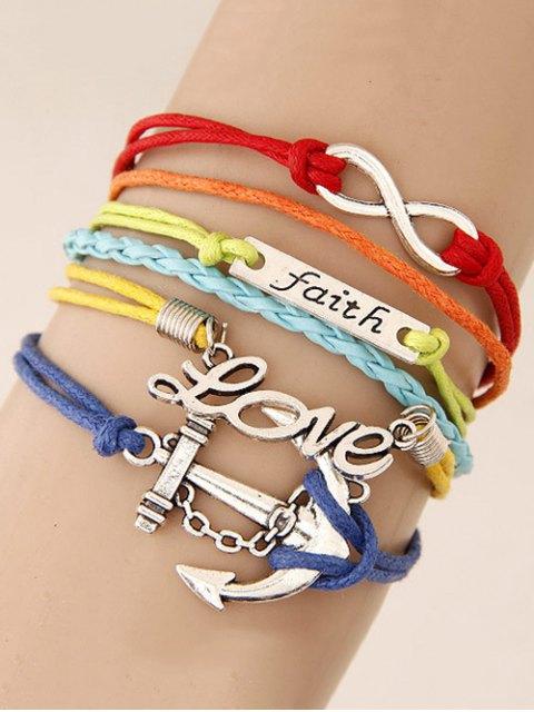 shop Braid Layered Anchor ID Strand Bracelet -   Mobile